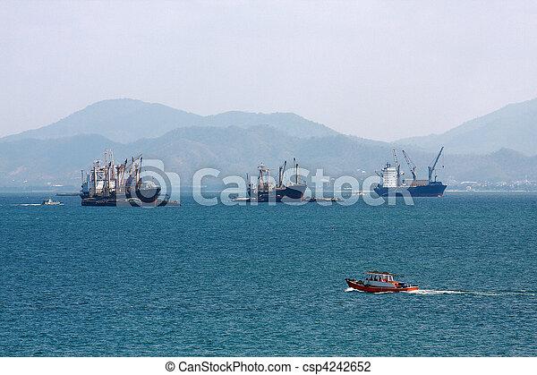 Cargo ship on the sea - csp4242652