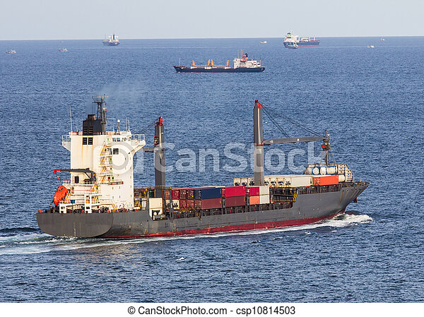 cargo ship sailing on the sea - csp10814503