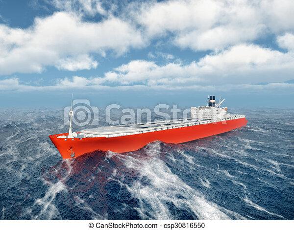 Cargo ship - csp30816550