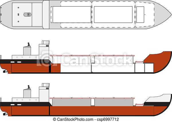 cargo ship with hold details - csp6997712