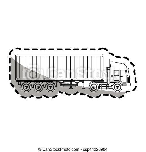 cargo truck - csp44228984