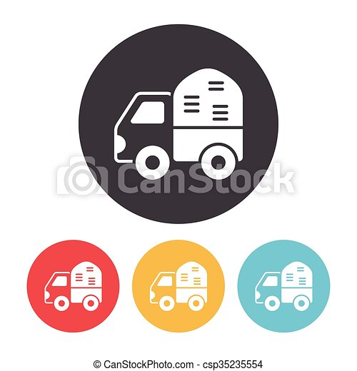 cargo truck icon - csp35235554