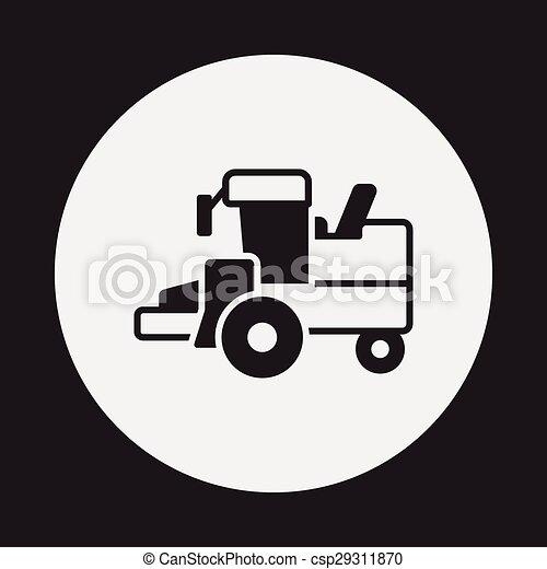 cargo truck icon - csp29311870