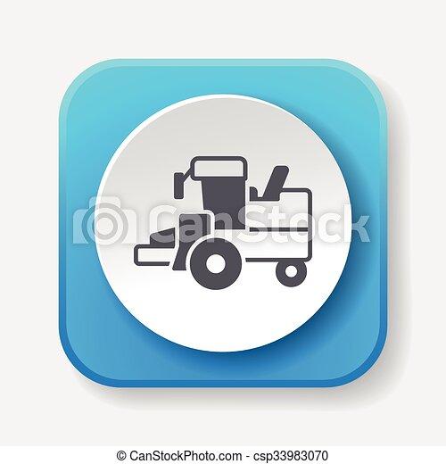 cargo truck icon - csp33983070