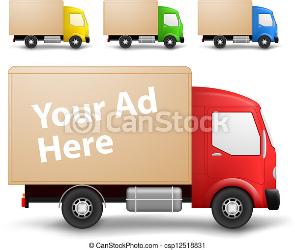 Cargo truck illustration - csp12518831
