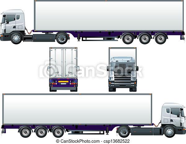 cargo truck - csp13682522