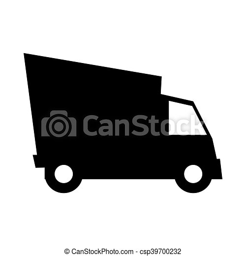 cargo truck vehicle silhouette - csp39700232