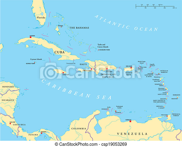 Caribbean - Large And Lesser Antill - csp19053269