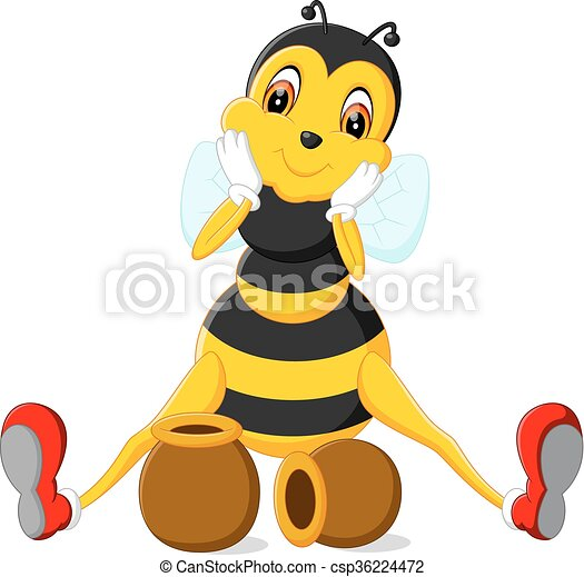 Dibujos de abejas - csp36224472