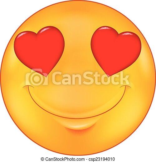 Caricatura sonriente enamorada - csp23194010