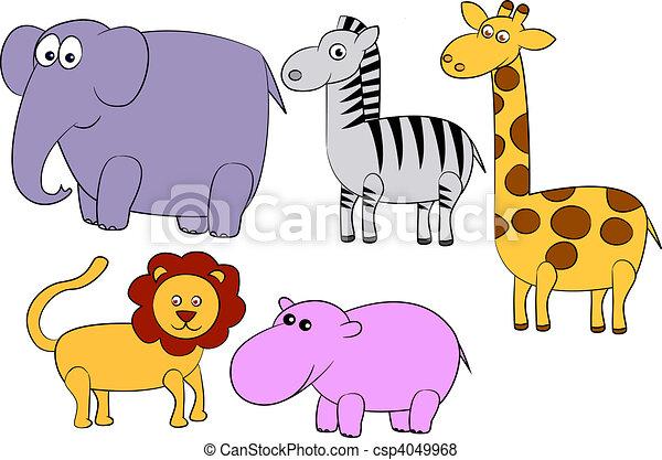 caricatura, animal - csp4049968