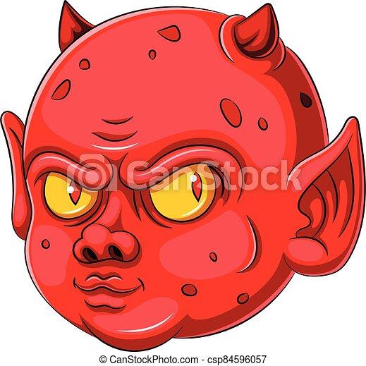 caricatura, carácter, bebé, diablo - csp84596057