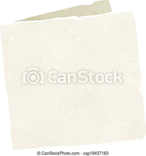 caricatura, cartão, em branco - csp18437163