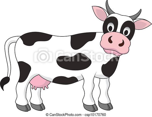Divertido dibujo de vaca - csp10170760