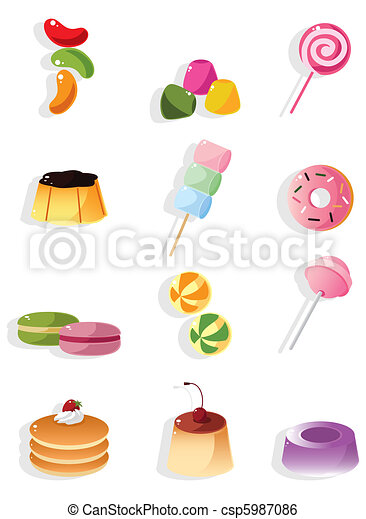 Un icono de caramelo de dibujos animados - csp5987086