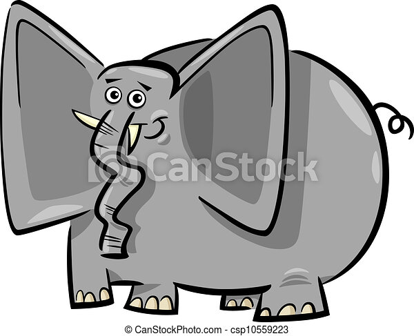 Divertidos dibujos animados de elefantes - csp10559223