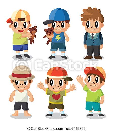 El icono del niño Cartoon está listo - csp7468382