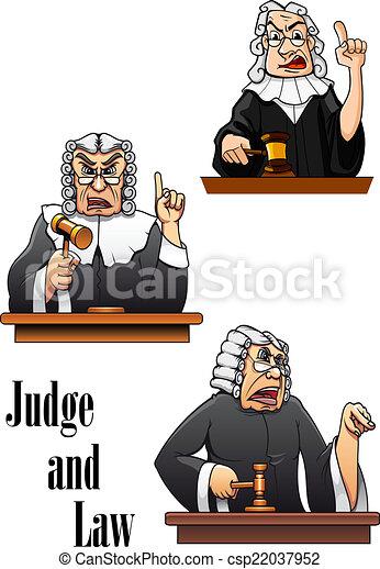 Personajes de jueces de dibujos animados - csp22037952