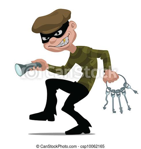 caricatura, ladrão - csp10062165