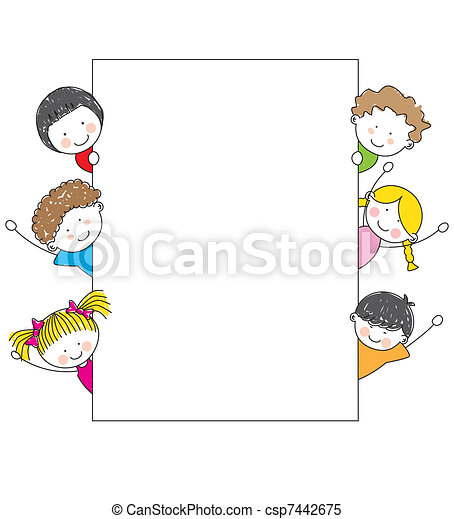 Lindos dibujos animados - csp7442675