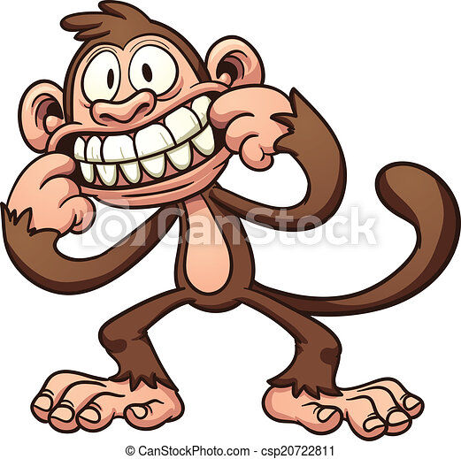 Mono de dibujos animados - csp20722811