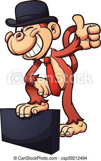 Mono de dibujos animados - csp39212494
