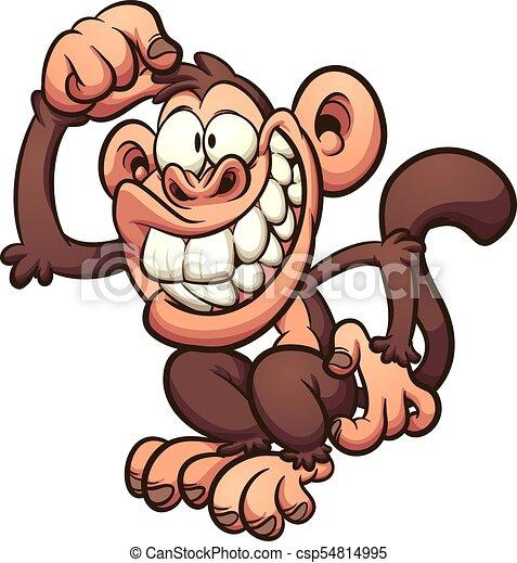 Mono de dibujos animados - csp54814995