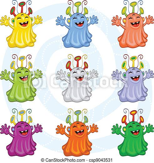 Monstruos de cartón - csp9043531