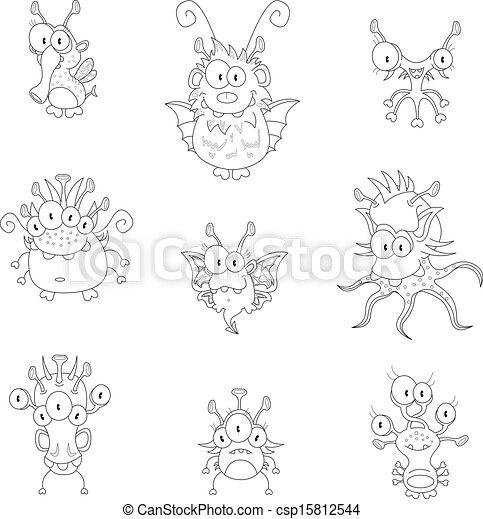 Monstruos de dibujos animados - csp15812544