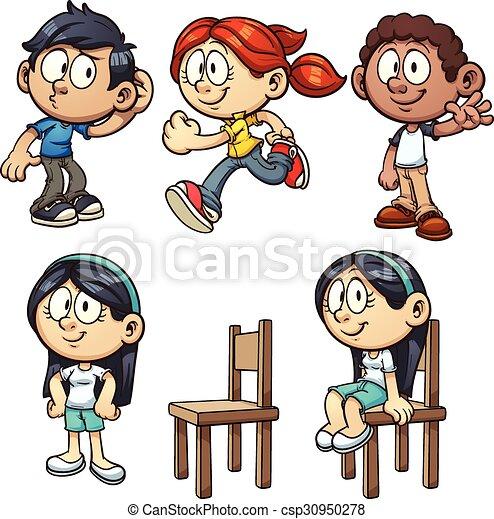 Niños de dibujos animados - csp30950278