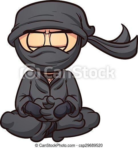 Ninja de dibujos animados - csp29689520