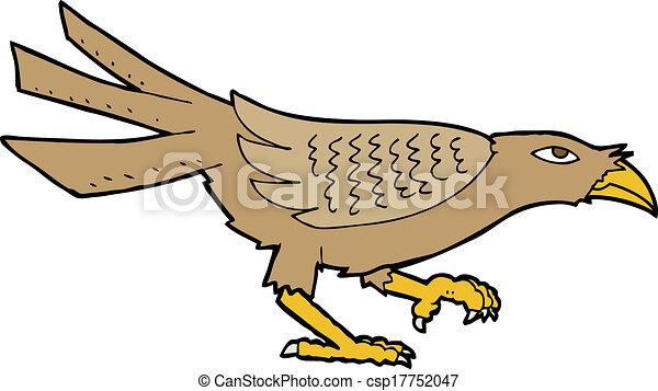 Pájaro de dibujos animados - csp17752047