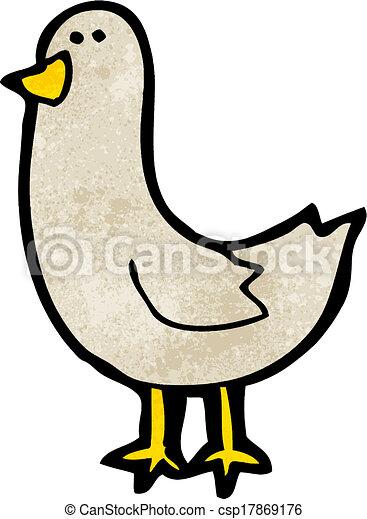 Pájaro de dibujos animados - csp17869176