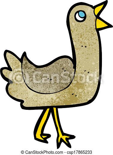 Pájaro de dibujos animados - csp17865233