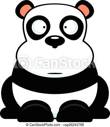 caricatura, panda - csp26243788