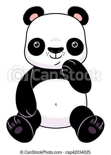 caricatura, panda - csp42034025