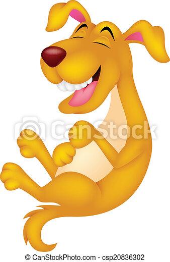 Lindo perro de dibujos animados riendo - csp20836302