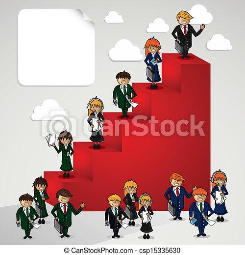 La gente de los dibujos animados. - csp15335630