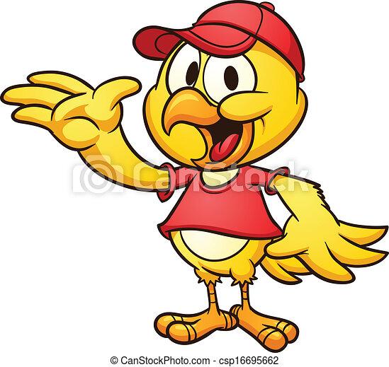 Pollo de dibujos animados - csp16695662