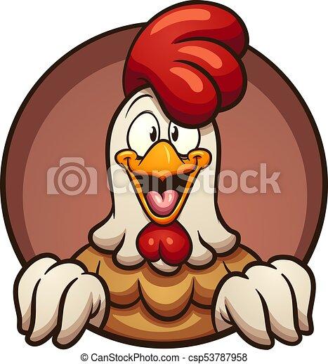 Pollo de dibujos animados - csp53787958