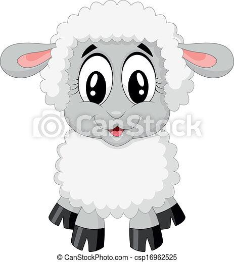 Lindo dibujo de oveja - csp16962525