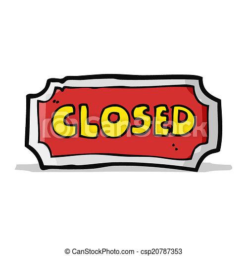 caricatura, sinal fechado - csp20787353