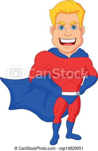 Los dibujos de superhéroes posando - csp14829051
