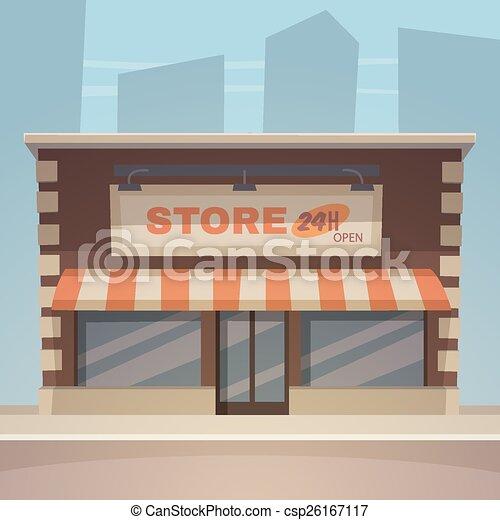 Una tienda de dibujos animados - csp26167117