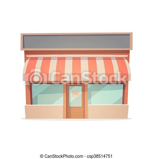 Una tienda de dibujos animados - csp38514751