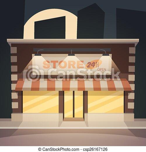 Una tienda de dibujos animados - csp26167126