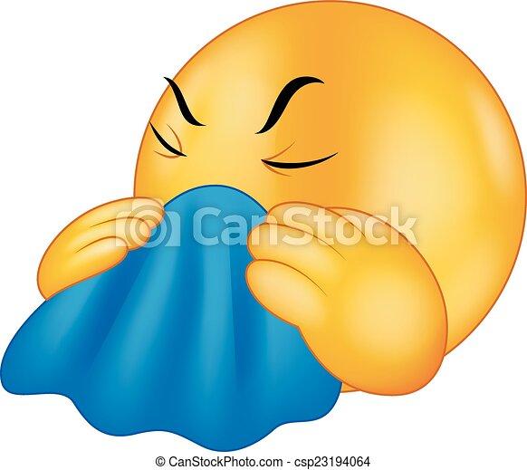 Tos de emoticono de dibujos animados - csp23194064