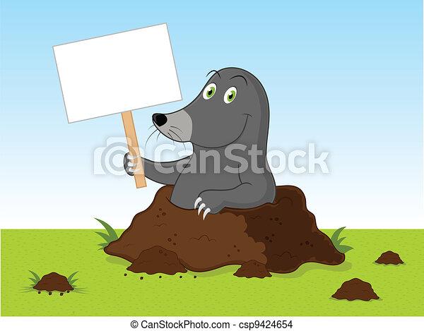 caricatura, toupeira - csp9424654