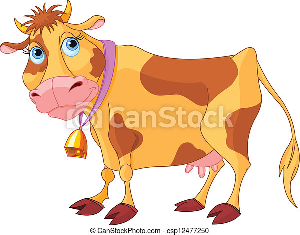 Vaca cartulina - csp12477250