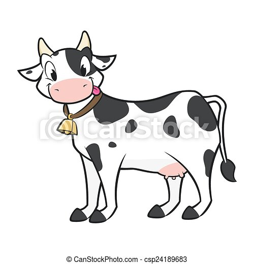 Vaca de dibujos animados - csp24189683